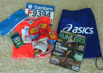 Maraton goodie bag 2016